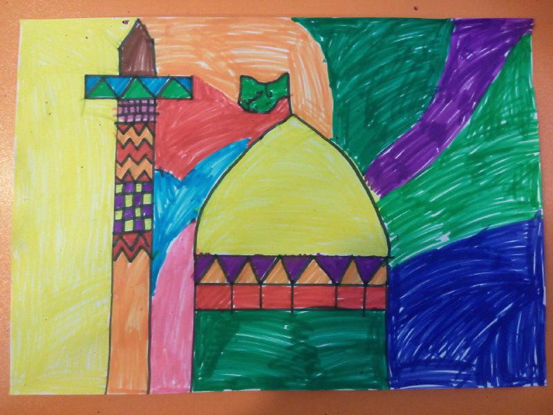 نقاشی حرم امام حسین (ع) محرم 1395 توسط پرهام حیدرنیا